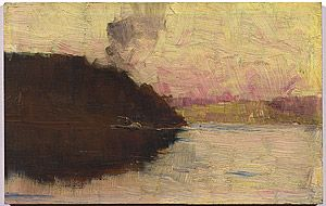 Arthur STREETON, (The Point, sunset)