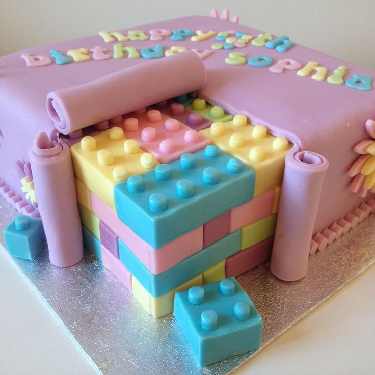 100% edible Lego Friends 'inside suprise' cake by www.BuBakes.co.uk For more creations, tips and competitions like us at Facebook.com/bubakes