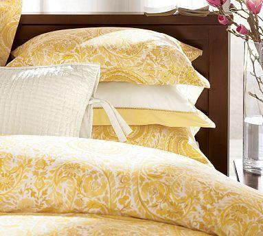 yellow paisley bedding