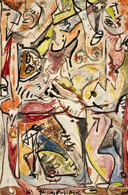 The Blue Unconscious, 1946. Jackson Pollock. Oil on canvas.