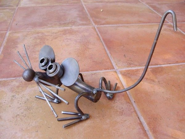 Fantastic Mouse Steel Metal Garden Art