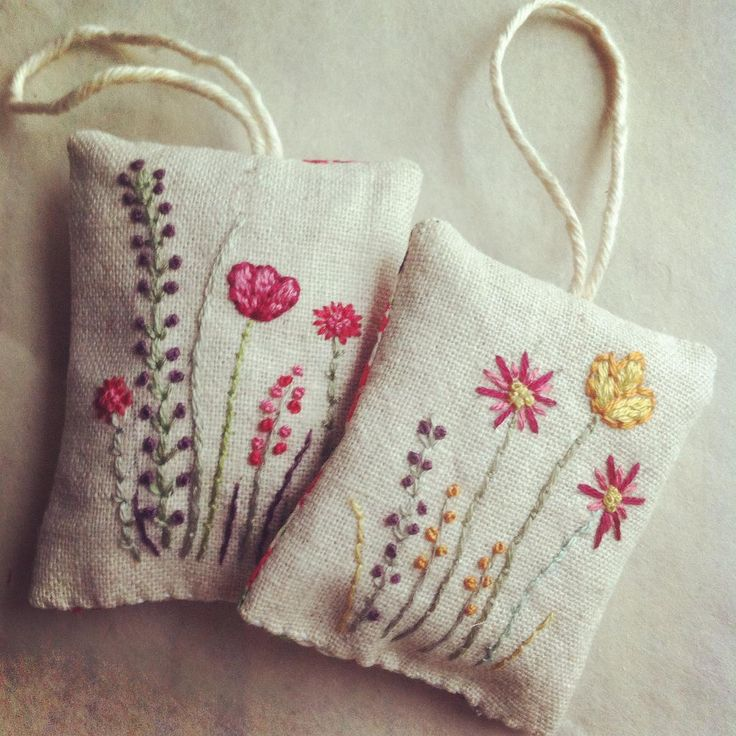 Today spent stitching flowery little things