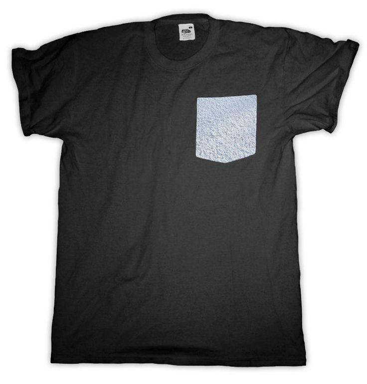 Snow Pocket T Shirt Black Men S - 2XL  #HailFridayCompagnie #PremiumTees