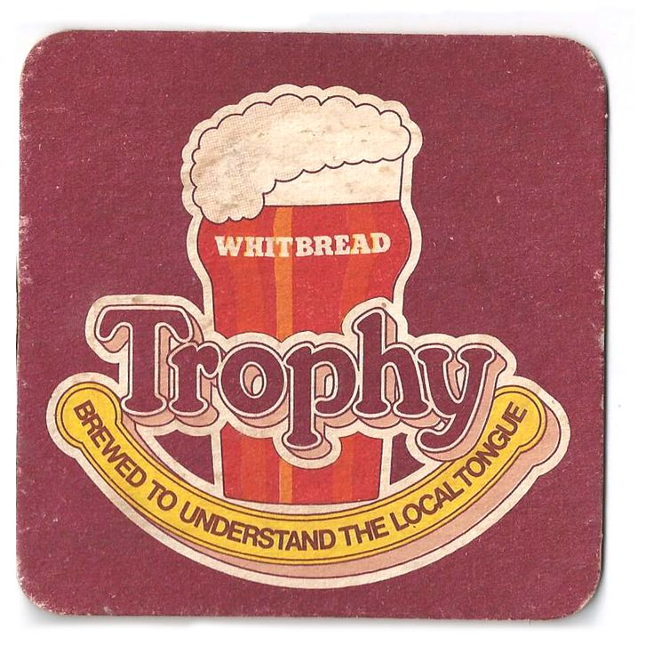 Trophy Vintage Beer Mat
