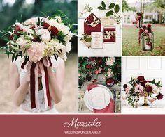 fall marsala wedding inspiration http://weddingwonderland.it/2015/05/colori-pantone-autunno-2015.html