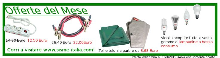 #offerte #mese #marzo , corri su www.sisme-italia.com