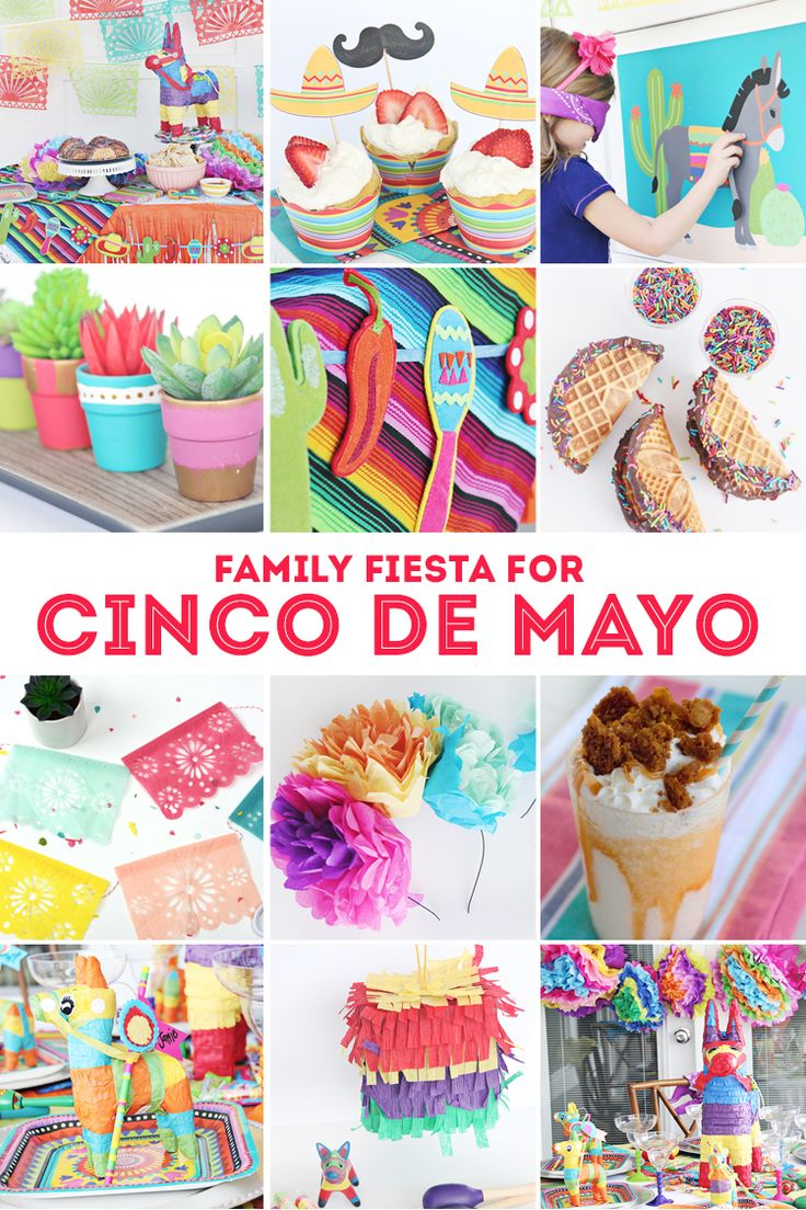 Family Fiesta for Cinco de Mayo - Everything you need for a fun family party! Ch...