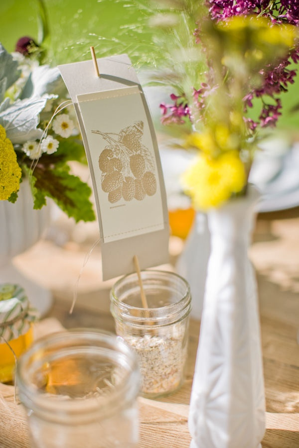 Cute idea instead of table numbers!