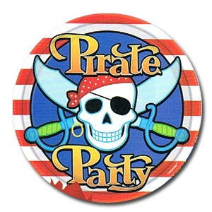 "Pirate Party 9"" Dinner Plates (8/pkg)"