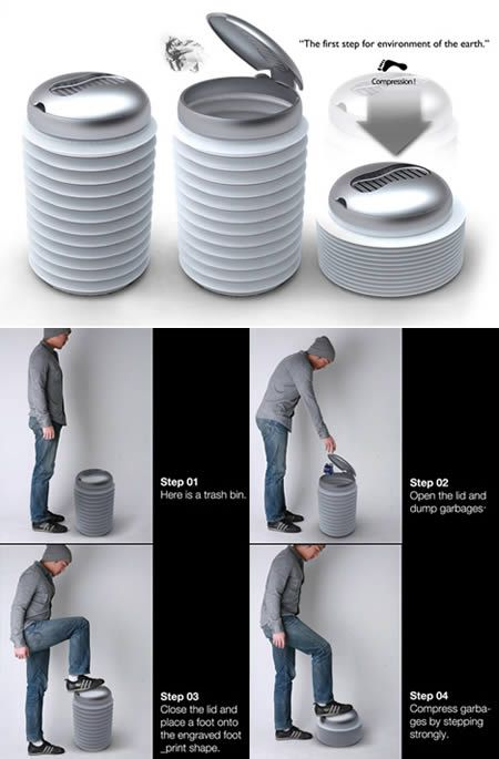 Armstrong Bin - Great idea, I hate having to touch the trash itself when I squash it all.
