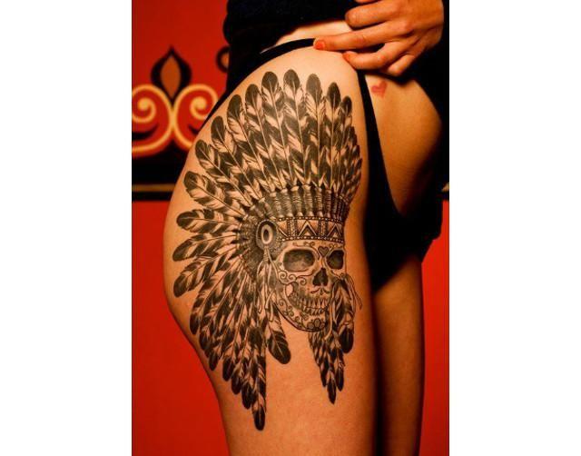 tatuajes de calaveras en las caderas 06