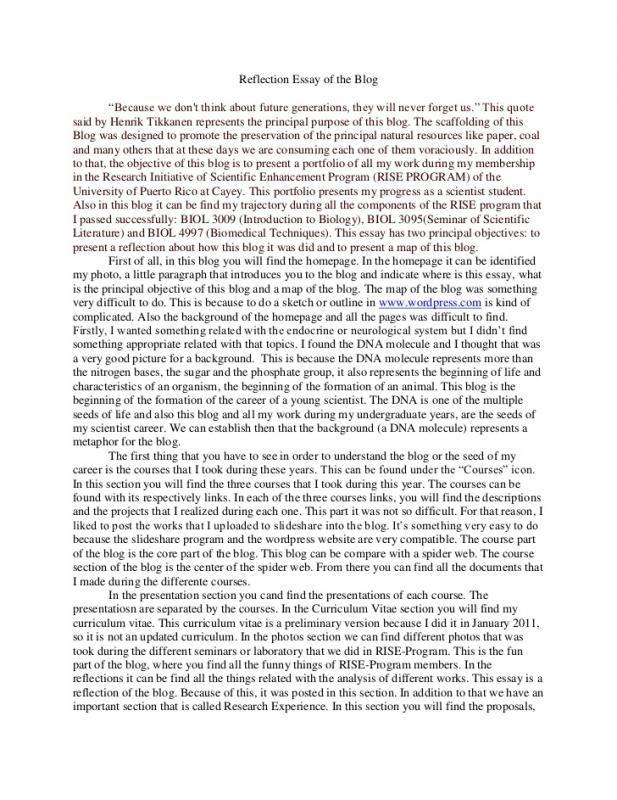 Self Reflection Essay Check More At Https Nationalgriefawarenessday Com 13670 Self Reflection Essay