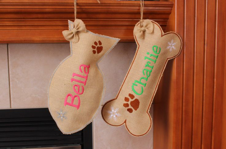 Cat stocking, Fish Stocking for Cat,personalized,custom name, Burlap Pet Stocking, christmas stocking for dog,cat christmas stocking by Snugahug on Etsy https://www.etsy.com/listing/488376435/cat-stocking-fish-stocking-for