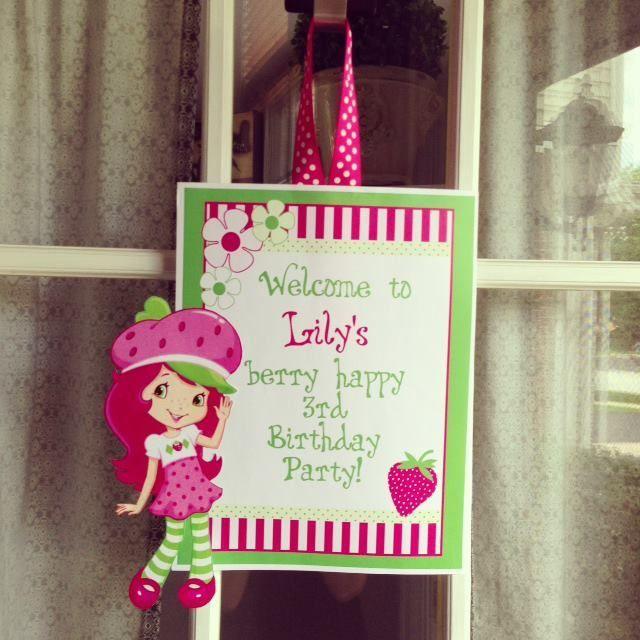 Strawberry Shortcake Party #strawberryshortcake #party