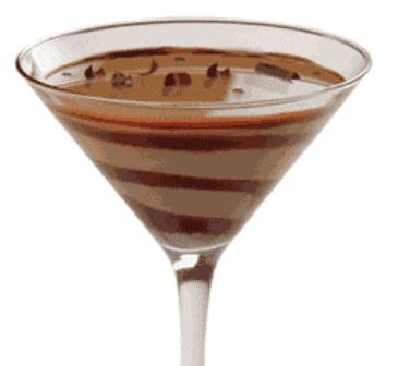 Godiva Chocolate Martini   1 1/2 shots Godiva® chocolate liqueur  1 1/2 shots creme de cacao  1/2 shot vodka  2 1/2 shots half-and-half      Mix all ingredients in a shaker with ice, shake and pour into a chilled cocktail glass with chocolate swirled in the glass.      Read more: Godiva Chocolate Martini recipe http://www.drinksmixer.com/drink302.html#ixzz1qL30AEf3