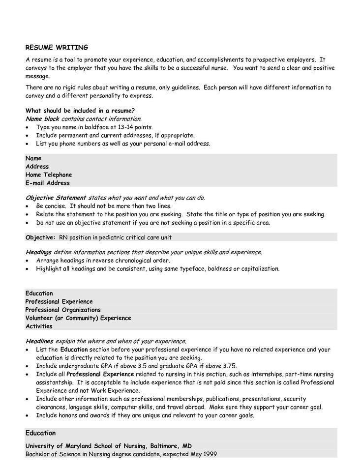 teenresume Good objective for resume, Resume objective