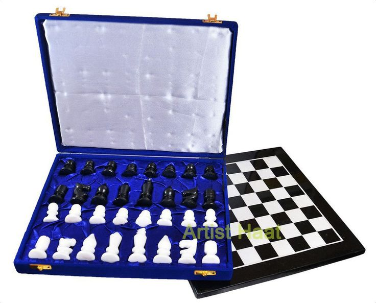 Black Friday Sale Artist Haat Black& White Handmade Marble Chess Set with Pieces #ArtistHaat