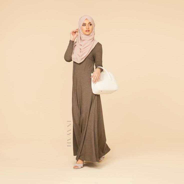 INAYAH   Mink Abaya With Flare   Nude Maxi Georgette   www.inayahcollection.com #covered #Hijab #Abaya#midi #dress #dresses #islamicfashion #modestfashion #modesty #modeststreestfashion #hijabfashion #modeststreetstyle #modestabayas #modestdresses #ootd #cardigan #springfashion #INAYAH #covereddresses #scarves #hijab #style #hijabstyle