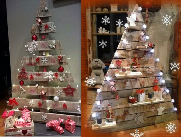 Sapins Noël palettes en bois                                                                                                                                                                                 Plus