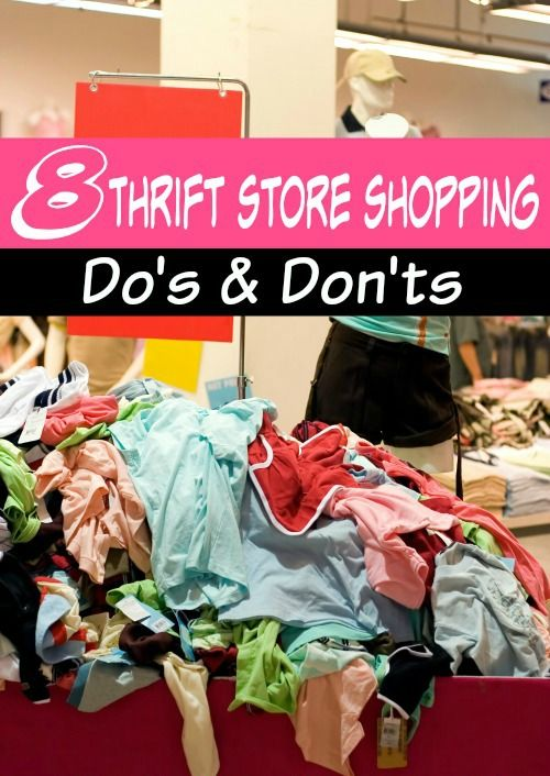 Thrift store shopping is an amazing way to save money when you're careful! These 8 thrift store do's and don'ts will keep you from making a buying mistake and help you get the biggest savings ever!