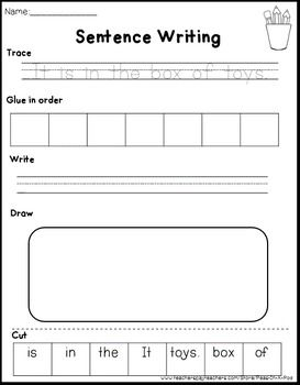 Sentence Building Worksheets (Free) | Sentence writing ...