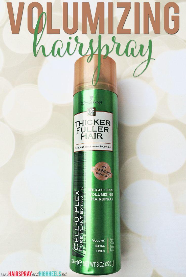 Thicker Fuller Hair Weightless Voluminzing Hairspray Review #hair #beauty