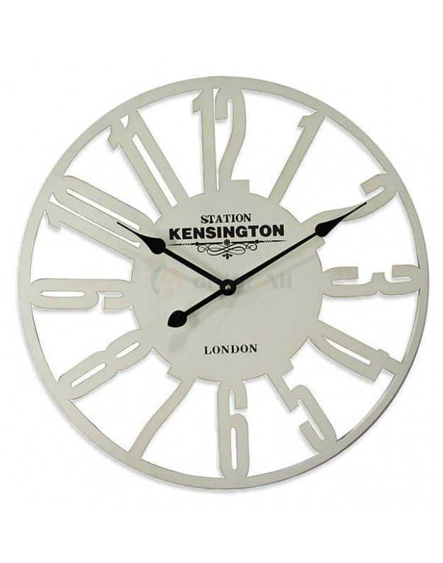 "Metallic Wall Clock ""KENSINGTON"" 60 cm"