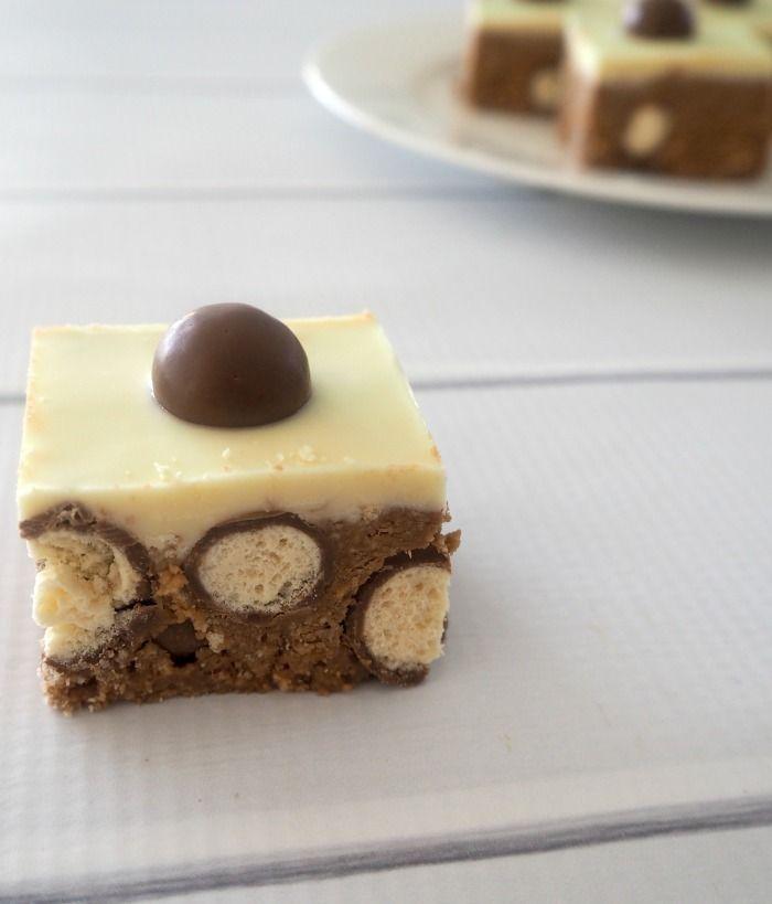No Bake Malteser Slice