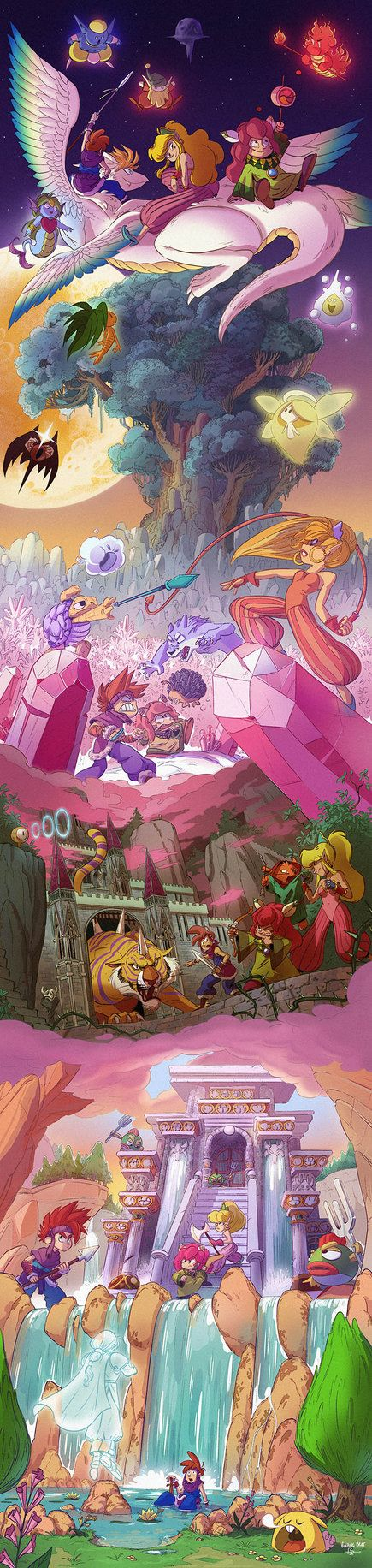 Secret of Mana fanart collaboration between Benoit Tranchet (benoittranchet-art.tumblr.com) and I (veesdumpingrounds.tumblr.com/) and I that we have been meaning to do since 3 years ago ! We&...
