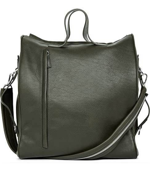 Large Leather Bowling Bag by Reiss