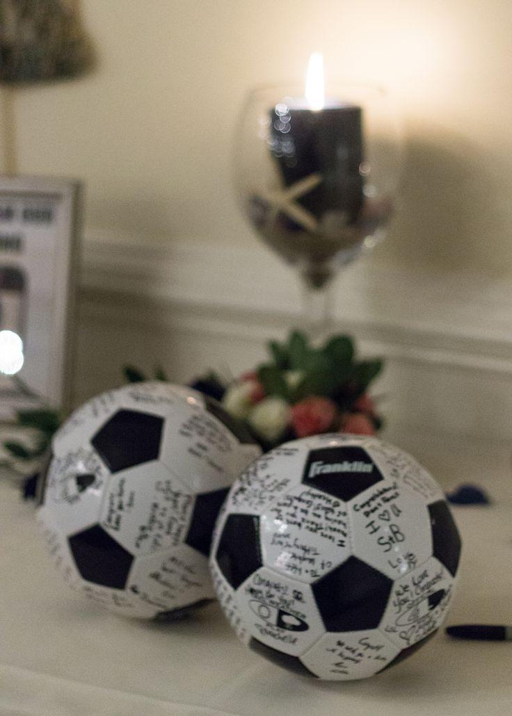 Seaglass themed wedding! Cape wedding. Soccer ball guest book!                                                                                                                                                                                 More