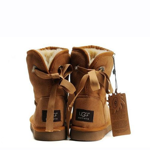 New UGG Bailey Button Boots 5808 Chestnut