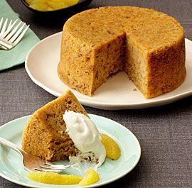 Steamed Marmalade Walnut Breakfast Pudding #slowcooker #breakfast #recipe