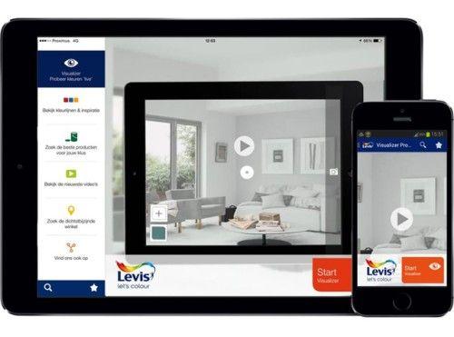 Deze app van Levis helpt je om de juiste kleur te kiezen - Decoratie - Binnen - Ikgabouwen.be