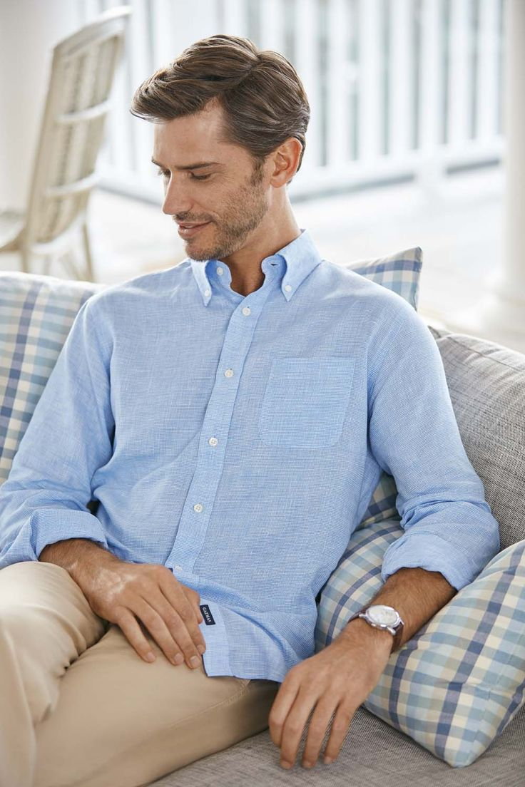 At GAZMAN we love Linen in the Summer! This soft pure linen houndstooth is a seasonal classic. Enjoy the cool feel that linen provides, perfect for those long summer days. It's a bit of Summer heaven.