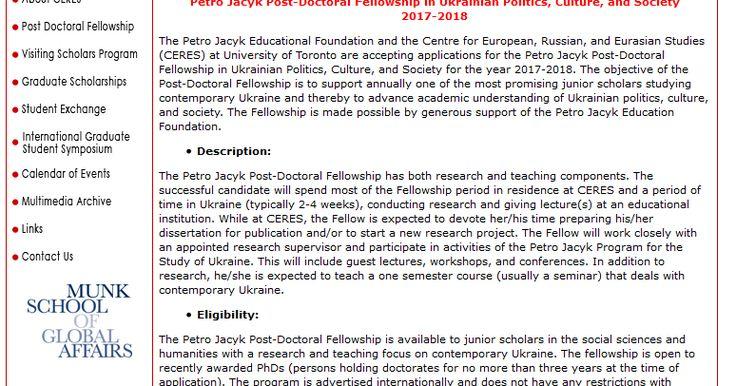 Beasiswa Post Doktoral Petro Jack