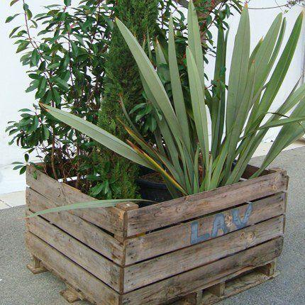 Esprit recyclage pour une jardinière pas comme les autres