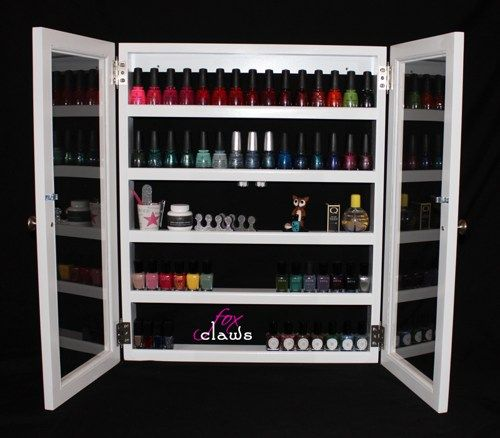 Nail Polish Cabinet Bead Craft Supplies Nail Polish