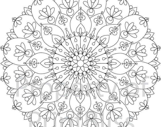 Flower Abstract Coloring Pages : The 25 best mandala printable ideas on pinterest