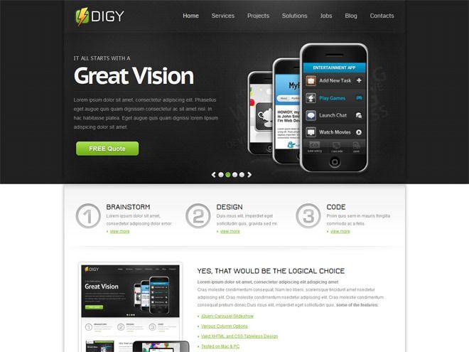 Digy : Free Responsive HTML5 / CSS3 Template | Freebiesjedi