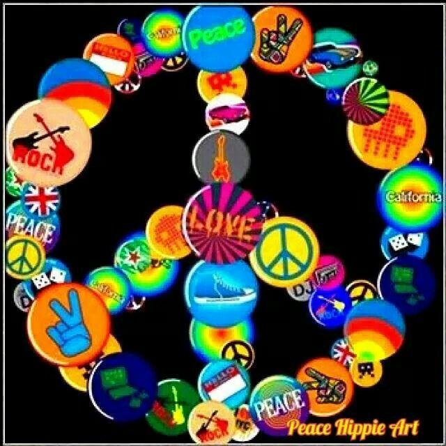 ☮ American Hippie Art ~ Peace Sign Pins