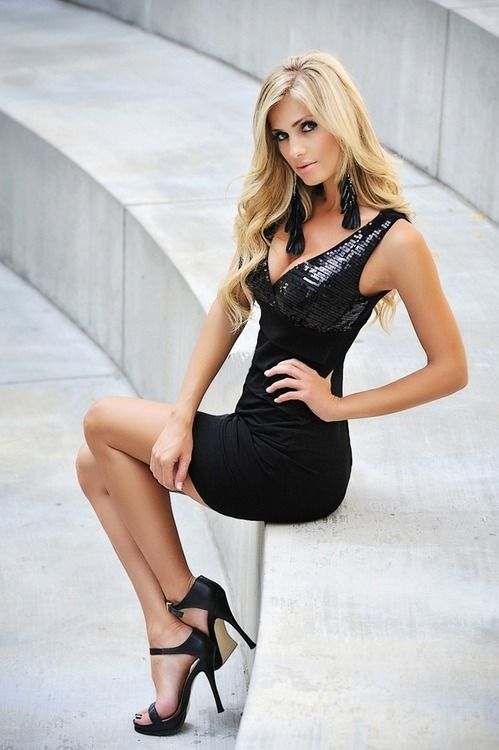 Little Black Cocktail Dress Heels