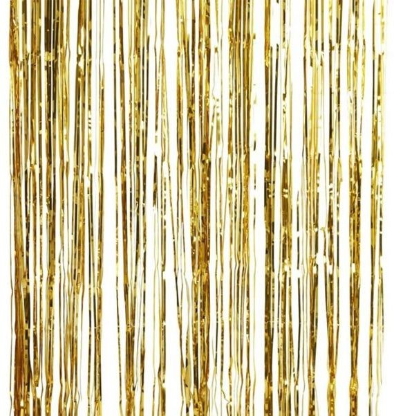 Gold Foil Fringe Curtain Decoration Shimmer Curtain Photo Booth