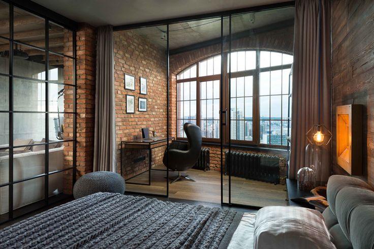 loft apartment work area