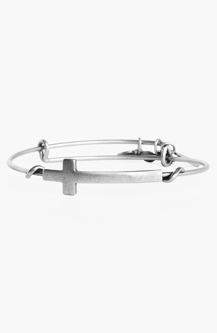 Alex and Ani 'Cross Wrap' Expandable Wire Bangle - Sterling Silver, what what.