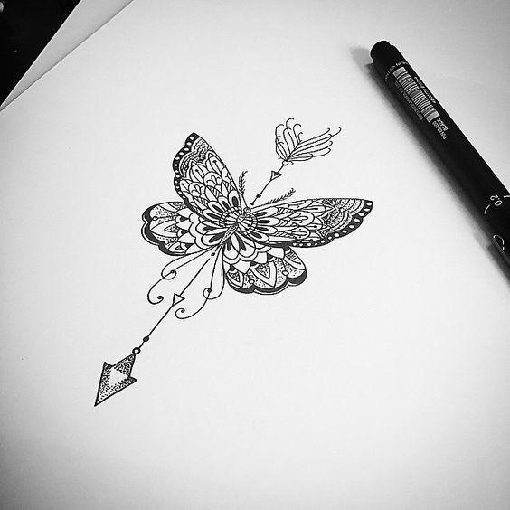 Swirled Hourglass - 31 of the Prettiest Mandala Tattoos on Pinterest - Livingly