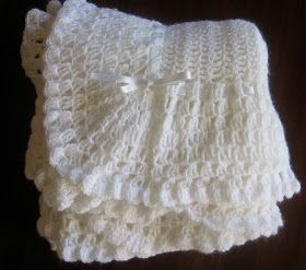 Free vintage crochet pattern for a baby blanket.