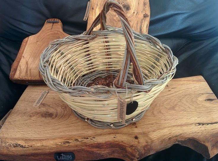 Cesto in vimini intrecciato - canestro per funghi salice e canne intreccio creativo cestini vimini cesteria prodotti naturali fibra naturale case naturali natural homes ecovillages art