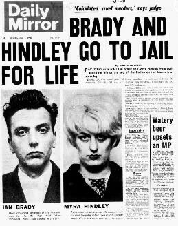 6 May – The Moors Murderers Ian Brady and Myra Hindley are sentenced to life imprisonment for three child murders committed between November 1963 and October 1965. Brady is guilty of all three murders and receives three concurrent terms of life imprisonment, while Hindley is found guilty of two murder charges and an accessory charge which receives two concurrent life sentences alongside a seven-year fixed term.