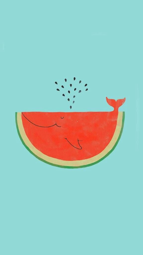cute, summer, tumblr, wallpaper, watermelon